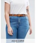 Asos「ASOS Curve ASOS CURVE Vintage Tan Jeans Belt(Belt)」