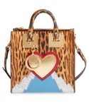 Sophie Hulme(ソフィーヒュルム)の「Sophie Hulme Albion Leather Box Tote - Brown(トートバッグ)」
