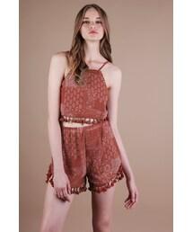 The Tinsel Rack「Finn Tassel Shorts (Rust)(Pants)」