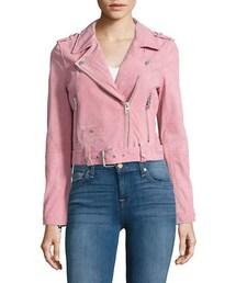 Blank NYC「Blank Nyc Suede Moto Jacket(Riders jacket)」