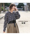 CITRINE Chakra(シトリンチャクラ)の「花柄スキッパーシャツ(シャツ・ブラウス)」