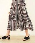 DHOLIC(ディーホリック)の「エスニックパターンラップマキシスカート(スカート)」