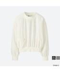 ユニクロ「コットンTブラウス(長袖)+E(Shirts)」