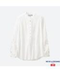 ユニクロ「コットンスタンドシャツ(長袖)+E(Shirts)」