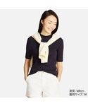 ユニクロ | リブハイネックT(5分袖)(Tシャツ・カットソー)