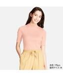 ユニクロ「リブハイネックT(5分袖)(T Shirts)」
