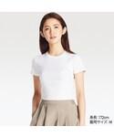 ユニクロ | スーピマコットンリブクルーネックT(半袖)(Tシャツ・カットソー)