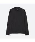 ユニクロ | リブハイネックT(長袖)(Tシャツ・カットソー)
