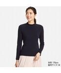 ユニクロ「リブハイネックT(長袖)(T Shirts)」