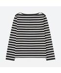 ユニクロ「ボーダーボートネックT(長袖)(T Shirts)」