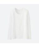 ユニクロ(ユニクロ)の「スーピマコットンモダールクルーネックT(長袖)(Tシャツ・カットソー)」