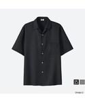 ユニクロ「オープンカラーシャツ(半袖)(Shirts)」