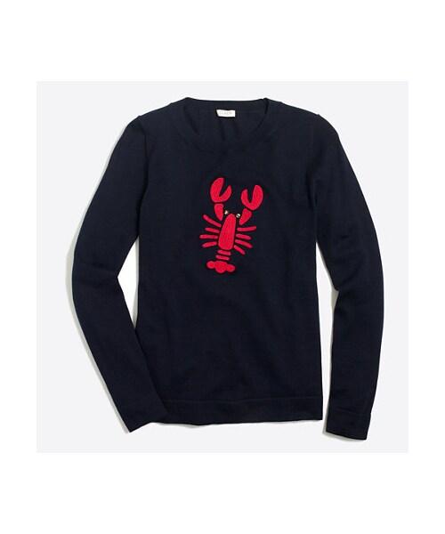 Jcrew Factoryembroidered Lobster Teddie Sweater Wear