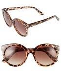 no brand「Women's Perverse 'Gimme Mo' 52Mm Round Sunglasses - Tortoise/ Brown(Sunglasses)」