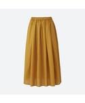 ユニクロ | ハイウエストコットンローンボリュームスカート(スカート)