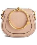 Chloe | Chloe Small Nile Bracelet Leather Crossbody Bag - Beige(Shoulderbag)