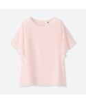 ユニクロ「ジョーゼットラッフルスリーブブラウス(Shirts)」