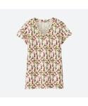 ユニクロ(ユニクロ)の「エピス・デザインVネックT(半袖)(Tシャツ・カットソー)」