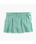 J.CREW「Gingham linen short with side ties(Pants)」