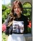 KORMARCH(コマチ)の「フリルポイントスクエアプリントTシャツ(Tシャツ・カットソー)」