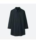 ユニクロ「スーピマコットンストレッチシャツ(着丈長め・7分袖)+EC(Shirts)」