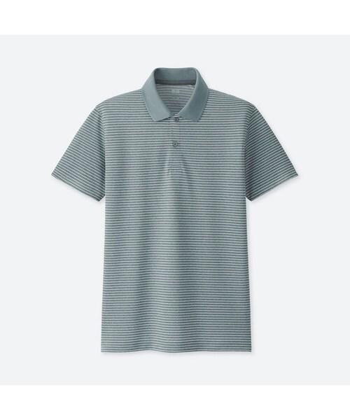ユニクロを用いたコーディネート2:ドライEXポロシャツ+感動パンツ