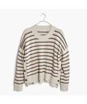 madewell「Brownstone Side-Button Sweater in Stripe(Knitwear)」