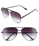 quay「Women's Quay Australia X Desi Perkins 'High Key' 62Mm Aviator Sunglasses - Black Fade To Clear(Sunglasses)」