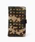 DIAVEL(ディアベル)の「迷彩×レッド×ゴールドスタッズ スタッズキャンバスモバイルケース(モバイルケース/カバー)」