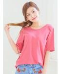 KORMARCH | 5色レースポイントTシャツ(Tシャツ・カットソー)