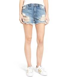 Sun & Shadow「Women's Sun & Shadow Ripped High Rise Denim Shorts(Pants)」