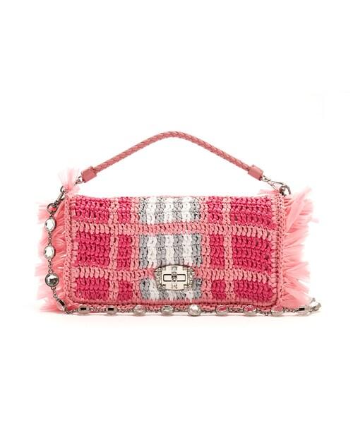 70c54a3704eb Miu Miu(ミュウミュウ)の「MIU MIU Woven-raffia shoulder bag(ハンドバッグ)」 - WEAR