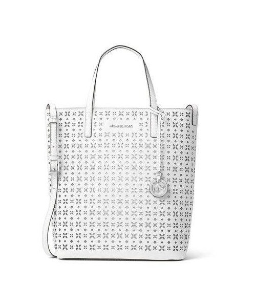 85f609a3bb48 「MICHAEL Michael Kors Hayley Large Top-Zip Leather Tote Bag, White」