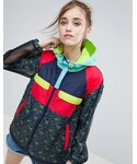 Asos「ASOS Rain Jacket in Ditsy Floral Print and Mesh(Other outerwear)」