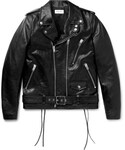 Saint Laurent | Saint Laurent Slim-Fit Leather Motorcycle Jacket(Riders jacket)