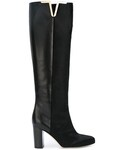 Brian Atwood「Brian Atwood - メタリック装飾 ブーツ - women - ゴートファー/レザー - 38.5(Boots)」