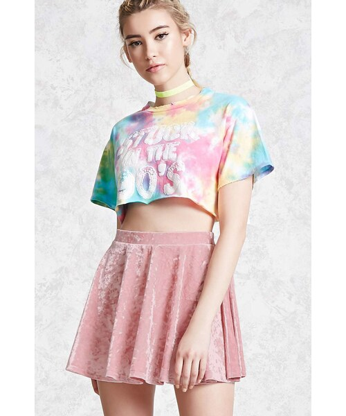 b2c0c380d0 Forever 21,FOREVER 21+ Crushed Velvet Mini Skirt - WEAR
