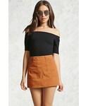 Forever 21「FOREVER 21+ Zip-Back Denim Mini Skirt(Skirt)」