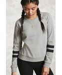 Forever 21「FOREVER 21+ Striped French Terry Sweatshirt(Sweatshirt)」
