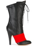Givenchy「Givenchy - コントラストパネル ブーツ - women - レザー/ポリウレタン - 38(Boots)」
