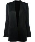 Helmut Lang「Helmut Lang - ノーカラージャケット - women - コットン/リネン/ビスコース - 2(Tailored jacket)」