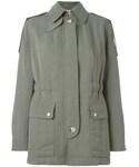 Helmut Lang「Helmut Lang - ギャザーウエスト ジャケット - women - コットン/ナイロン/キュプロ - XXS(Tailored jacket)」