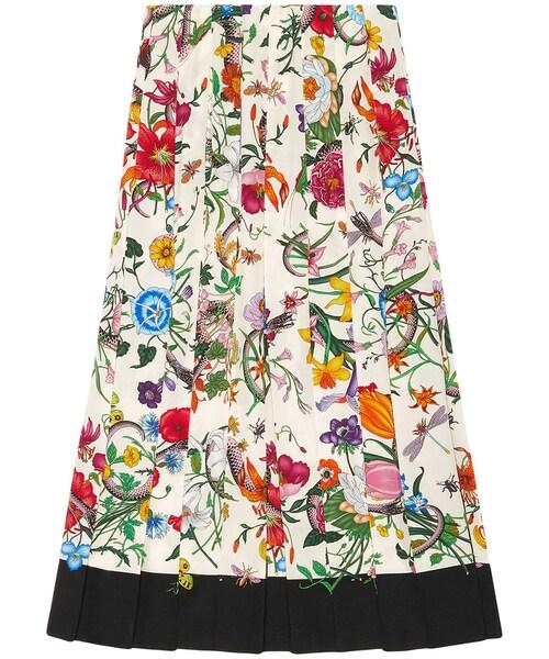 finest selection 68e03 2155e Gucci(グッチ)の「Gucci - Flora Snake スカート - women ...