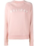 Holiday(ホリデイ)の「Holiday - ロゴプリント スウェットシャツ - women - コットン - M(ニット・セーター)」