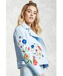 Forever 21「FOREVER 21+ Faux Leather Embroidered Jacket(Riders jacket)」