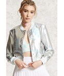 Forever 21「FOREVER 21+ Iridescent Faux Leather Jacket(Riders jacket)」