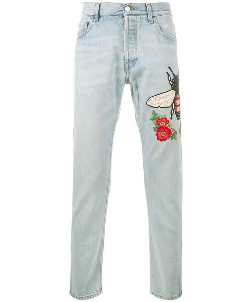 cheap for discount 9441b e0a0b Gucci(グッチ)の「Gucci - 刺繍ディテール ブリーチジーンズ ...