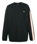Raf Simons「Raf Simons - ラインディテール スウェットシャツ - men - コットン - M(Sweatshirt)」