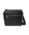 Gucci「Gucci - グッチ シグネチャー レザー メッセンジャーバッグ - men - レザー/ナイロン/マイクロファイバー - ワンサイズ(Messenger bag)」