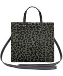 Clare Vivier「Clare V. Small Petit Simple Leopard Print Genuine Calf Hair Tote - Green(Tote)」
